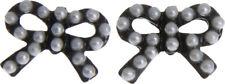 Killer Kirsche BLACK BOW Vintage PERLEN Pearls Retro OHRSTECKER Rockabilly