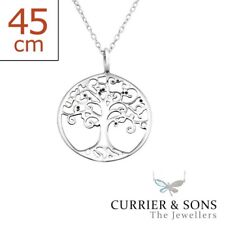 925 Sterling Silver Tree of Life Pendant Necklace Design 3 (45cm / 18 inch)
