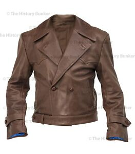 WW1 German motorcyclists leather coat BROWN - made to order