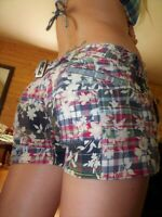 American Eagle Outfitters aeo plaid floral shorts cute summer size 2