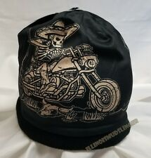Beanie Mexicali Skeleton Motorcycle Sublimated Design Knit Hat Cap #1003