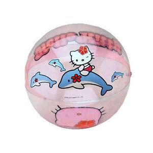 "Inflatable Beach Balls 12"" Sanrio Hello Kitty & Dolphin Age 3+ NIP"