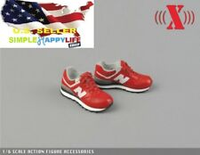 "1/6 scale RED man sneaker for 12"" figure hot toys phicen Ganghood ❶US SELLER❶"