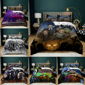 The Addams Family Bedding Set Duvet Cover and Pillowcase Single Double King