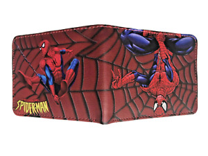 MARVEL Spiderman Wallet Purse Mens Kids Comics Superhero Movie PC Gaming Anime