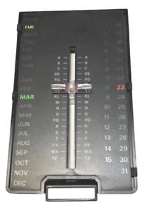Telephone Index Phone Numbers Addresses  Perpetual Slide Calendar Vintage