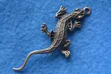 B020 breloque scrapbooking pendentif BRICOLAGE collier lézard salamandre animal