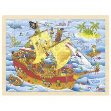 Holzpuzzle Einlegepuzzle  Piraten 57831 Puzzle 96 Teile Goki