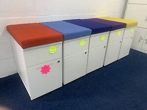 White Wood Under Desk 2 Drawer Units (44 In Stock) Bargain £45 Each