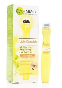 15ml GARNIER SKIN NATURALS LIGHT COMPLETE BRIGHTENING EYE ROLL-ON ANTI-AGING