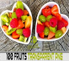 100 FRUITS TRANSPARENT PNG DIGITAL PHOTOSHOP OVERLAYS BACKDROPS BACKGROUND