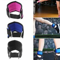 D-ring Ankle Strap Gym Cable Machines Attachment Thigh Leg Pulley Weight Lifting
