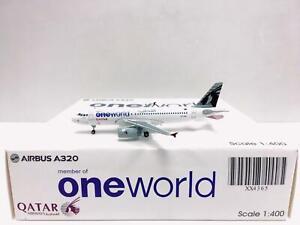 JC Wings 1:400 Qatar AIRBUS A320 one world A7-AHL XX4365