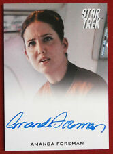 STAR TREK (2009 movie) AMANDA FOREMAN as Hannity, LIMITED EDITION Autograph Card
