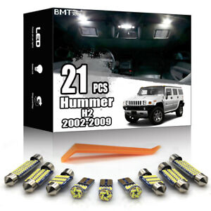21x White Interior Dome Map LED Lighting Package Kit For Hummer H2 2002-2009