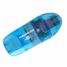 USB 2,0 Memory Card Reader Writer Adapter für SD MMC SDHC TF Card in Blau