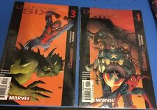 Ultimate Six #1 November 2003 #3 January 2003 Nov 03 Marvel lot of 2 comic