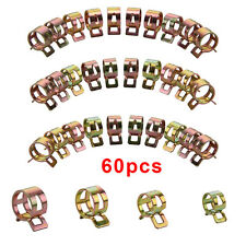 60pcs 6/9/10/12/14/15mm Spring Clip Fuel Line Hose Water Pipe Air Tube Clamps