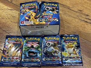 Individual Pokémon XY Evolutions Packs From Booster Box