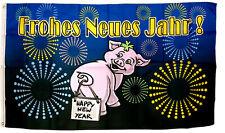 Flagge Fahne Frohes Neues Jahr!  Happy New Year! Feuerwerk 90x150 cm NEU