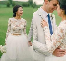 White Ivory Bridal Bolero Jacket Wedding Top Full Lace Elegant Long Sleeve Wraps