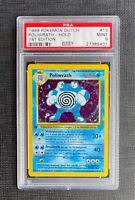 Pokemon Card PSA 9 Dutch Poliwrath Holo 1st Edition Base Set #13/102 Mint