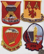 US ARMY WW2 PATCH 674 AIRBORNE ARTILLERY PARACHUTE REGIMENT HEAVEN TO HELL WWII
