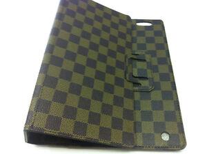 iPad2/3 case luxury brown checker design