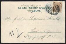 AUSTRIA 1899 PIONEER PC WITH 2 KREUZER VIENNA CANCEL