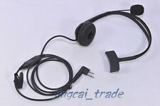 Overhead Headphone Headset for Motorola GP300 CP200 HYT TC600 TC700 w. boom mic