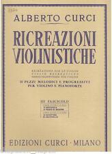 Curci: 10 pezzi Melodici e Progressivi Per Violino e pianoforte Vol.3° - CURCI