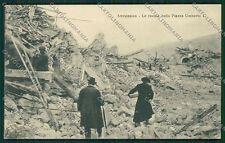 L'Aquila Avezzano Terremoto cartolina QQ3881