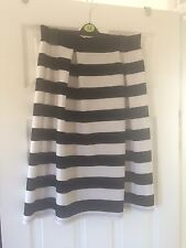 Black And White Stripe High Waisted Skirt Size 10