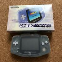 Nintendo Game Boy Advance body (milky blue) screen cover box from jAPAN