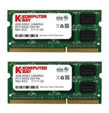 2x 4GB Ram Speicher | DDR3 | für MacBook 6,1 7,1 2009 2010 Apple 1067 Mhz