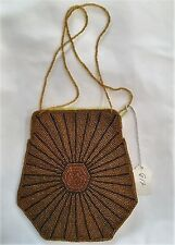 Bag Purse Hand beaded with Beaded strap handles - NWT