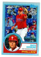 2018 Topps Chrome 35TH ANNIVERSARY 1983 RETRO RHYS HOSKINS RC QTY AVAILABLE