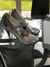 Schuhe von Miu miu Paillietten silber Gr 40