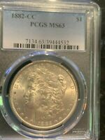 1882-CC Morgan Silver Dollar, MS63, PCGS real nice BU Carson City Morgan