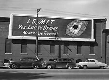 1950 Lucky Strike Billboard over a 1947 Studebaker Bus Coupe 8 x 10 Photograph