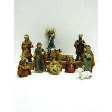 Natività in Resina 3,5 Cm Sacra Famiglia 11 Pz Lavoretti Scuola Pastori Presepe