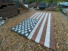 More details for usa flag stone garden ornaments national us slab decor feature paving memorial