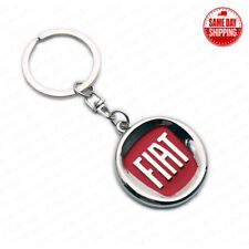 For Fiat 3D Logo Sport Alloy Car Home Key Keychain Ring Decoration Gift