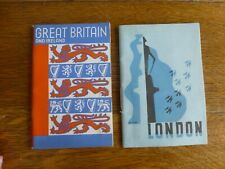 Vintage Booklets:  London by H.B. Brenan + Great Britain & Ireland