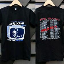 Neil Young US winter Tour Concert T-Shirt Black new