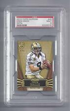Drew Brees Card 2012 Topps Supreme #45 Sepia Factory Numbered 4/40  PSA 9 MINT