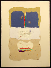 "Ricardo Benaim ""Letter to Zapata"" Signed Mixed Media Art Collage, Make Offer!"