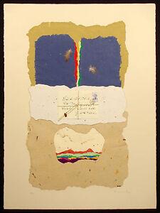 "Ricardo Benaim ""Letter to Zapata"" Signed Mixed Media Art Collage, Make Offer!"