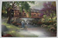 Thomas Kinkade Art/ Postcard The Old Fishin' Hole Lot of 10 Bridge Fishing Dog
