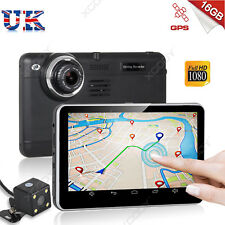 7'' HD 1080P Dual lens In Vehicle Car DVR GPS Dash Camera Recorder Cam G-sensor